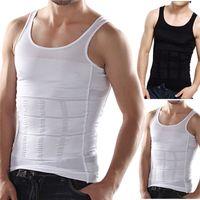 Wholesale body shaper for men slimming n lift underwear strong elastic tummy control shapewear white vest design for men shirts
