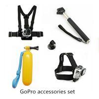 Wholesale Gopro Accessories Set Monopod Mount Tripod Float Bobber Chest Belt Set For Go pro Hero Session Sjcam SJ4000 Xiaomi yi Camera