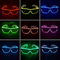 EL Glasses Fil EL mode Neon LED Glowing Sunglasses Rave Costume Party DJ Couleurs multiples