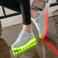 Cheap Fashion Luminous Shoes High Quality LED Lights USB Charging Colorful Shoes Lovers Casual Flash Shoes