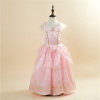 Wholesale New girls Cinderella Cosplay costume dress princess dress party dress with short sleeves delivery fast HJH16