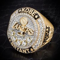 Wholesale Hot Sale Basketball Funs Collection Souvenirs Lakers Present Kobe Bryant with Retirement Ring Twenty Years Black Mamba Replica Ring