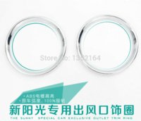 Wholesale Air conditioning vent decorative circle for sunny ABS chrome auto accessories M4660 circle leg accessories for flower girls
