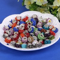 Wholesale 2016 Sterling Silver Screw Rhinestone Fascinating Faceted Loose Beads Jewelry Fashion Fit Charm Bracelets Necklaces Accessories