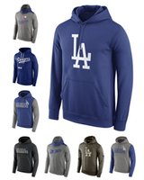 angeles long - Cheap New Men s Fleece Los Angeles Dodgers Royal Cooperstown Performance Pullover Hoodie Mixed order