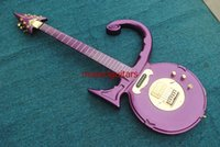 Wholesale New Brand Custom Electric Guitar Prince Symbol Guitar with Hard Case Purple Color
