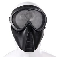 air soft goggles - Outdoor Tactical Air Soft Face Guard Mesh Tactical Mask Goggles ST04