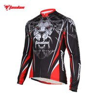 bicycle online - Tasdan Sportswear Cycling Jerseys Custom Long Sleeve Tiger Cycling Jersey Wear Bicycle Full Tops Bike Clothing Online