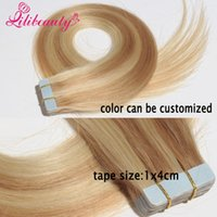 Wholesale Lili Hair Tape In Human Hair Extensions Brazilian Straight Skin Weft g g g per strand Tape Hair Extensions