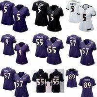 authentic ravens jerseys - 2016 hot sale women football Jerseys Baltimore Joe Flacco cheap nice Ravens jerseys elite authentic football shirt size S XL