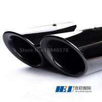 Wholesale Freeshipping set Stainless Steel Exhaust Pipe tips Chroming black round for porsche macan Modified Car Vehicle