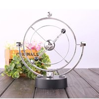 balance decoration - Large Newton Pendulum Ball Creative Home and Office Decoration Educational Toy for Children Physics Science Metal Balance Ball