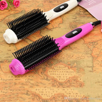 Wholesale 2016 New Hot Multifunctional Anti scald Fast Hair Straightener Comb Hair Curler Brush Electric Straightening Irons Comb