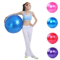 Wholesale New Fitness Massage Yoga Ball Point Message Environmental Protection PVC Body building Tool Exercise Pilates Ball MD0034 salebags