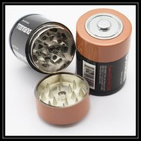 Battery Grinders battery smoke machine - New Version Battery Case Shaped Tobacco Grinder Metal Parts Layer Herb Grinder Crusher Machine Tool pc Hand Mullers Box For Smoking