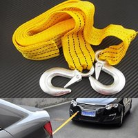 Wholesale New Arrival M Tons Car Tow Cable Emergency Trailer Rope Anti Slip Hooks for Heavy Duty
