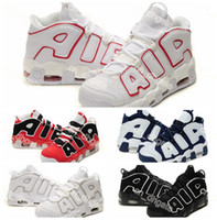 Wholesale 2016 New Air More Uptempo Basketball Shoes Scottie Pippen Olympics Shoes Men Training Sports Shoes Outdoor Top Quality Sneakers Size
