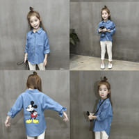 Wholesale New autumn Baby girls Mickey Denim coat cartoon Outwear clothing baby jacket cotton kids Long sleeve shirt C1197