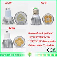 Wholesale Dimmable Led spotlight W W W high power cup light E27 E14 GU10 GU5 light V V V