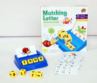 >4 Years abc english learning - Matching letter game Alphabet Letters Card Learn English Language Word ABC Puzzle Children Educational Toys Learning Machines