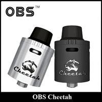 big cheetah - Original OBS Cheetah RDA Tank mm Diameter Rebuidable Dripping Atomizer Thread with Velocity Deck Big Delrin Drip Tip