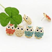 Wholesale 2017 NEW Cute Owl Measle Women Earrings