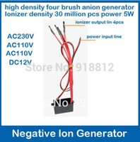 Wholesale anion generator output million high density brush Negative ion Generator V V air purifier for home ionizer