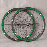 al por mayor bicicleta de japón-Japón Toray ruedas de carbono 700C 38mm x 25mm ruedas de bicicleta de carretera de carbono 3K / UD, Farsports FSC38CM-25 con Powerway R36 hubs