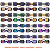Wholesale Hot Sale Hoverboard Skins Protective Vinyl Skin Stickers Balance Board Hover Skins Decal Self Balancing Hoverboard Leray Sogo Glyro Swagway