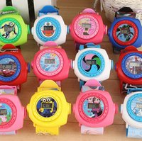 Wholesale newest hot sales D cartoon watch toys boys birthday gifts pattern LED Projectior silicone watch