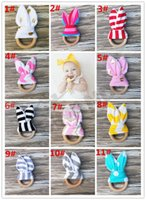 baby inside - Fedex DHL Safety baby Teething Ring Fabric and Wooden Teething training with Crinkle Material Inside Sensory Toy Natural teether bell M13
