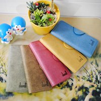 Wholesale Cheap Brand Fashion Beautiful Matte Womens Long Handbags Soft PU Leather Versatile Medium Business Cover Flap Lady Clutch Bags For Cellphone