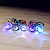 Wholesale Mini led colorful flash bulb key chain dazzle colour light bulb key chain Christmas gift Halloween gifts