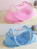 baby travel bassinet - 0 Year Baby Crib Baby Bed Bassinet Portable Infantil Cots With Pillow Mat Cradle Folding Baby Crib Netting Travel Cot