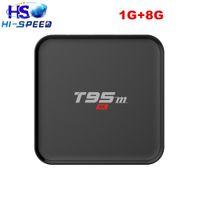 Wholesale 10pcs T95M Android TV Box Amlogic S905 Quad Core Kodi Pre installed k k G G WiFi mxq t95 ott tv box