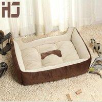 Wholesale Big Size Large Dog Bed Kennel Mat Soft Fleece Pet Dog Puppy Warm Bed House Plush Cozy Nest Dog House Pad warm pet house