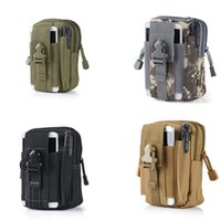 Cheap Free DHL Universal EDC Pouch Utility 5 Colors Camo Bag Military Nylon Tactical Waist Pack Joging Bag Travel Equipment E595E