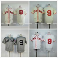 ted - Boston Red Sox Ted Williams Throwback Jersey Cream Gray White Stitched Carl Yastrzemski Baseball Jersey Retro Shirt Cream