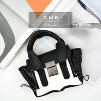 mini padlock - CMK KB160 Cute Mini Size Monster Philip Padlock Bag for Kids Girls Colors Optional Chrildren Bag with Shoulder Strap Handbag for Princess