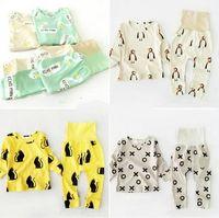 Wholesale 8 COLORS BOBO CHOSES baby boys clothing sets girls clothes kids pajama sets vetement enfant garcon kikikids nununu mini rodini