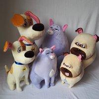 Precio de Juguete de peluche bulldog-25CM La vida secreta de los juguetes de las mascotas de juguete de felpa acolchado Max Chloe bola de nieve bulldog relleno muñeca suave para el regalo del Día del Niño