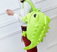 backpack embroidery - New creative Monster dinosaur cartoon cute business double shoulder bags personalized sweet with the men and women bags