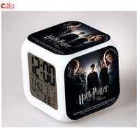 Wholesale Movie Series Harry Potter Digital Alarm Clock Color Changing LED Clock Kids Cartoon Clock