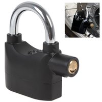 alarm padlocks - Black Siren Padlock with dB Alarm Provides Perfect Security Provides perfect security for your property Can be used alarmed