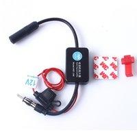 Wholesale Car Antenna Signal Amp Amplifier Booster Radio FM MHz