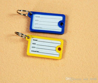 Wholesale Warehouse hotels listed tag string key Factory colored plastic key card classification bag tag card key card card Square Keychain