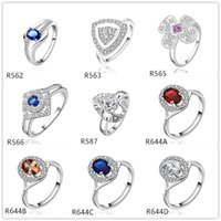 Wholesale women s gemstone sterling silver ring pieces a mixed style EMR51 factory direct sale high grade fashion silver ring