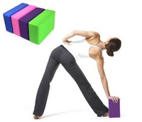 Wholesale yoga block brick foaming home exercise practice fitness gym sport yoga tools Yoga Blocks Bricks Foaming Home Exercise Fitness H