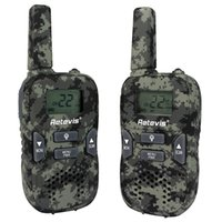 Wholesale Retevis RT33 Camouflage Kids Walkie Talkie Channels W UHF Mhz GMRS FRS Scan VOX Call Tone CTCSS DCS Flashlight A9117M