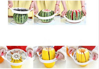 Wholesale Large Watermelon Cutter Knife Cantaloupe Slicer Corer splitters Stainless Steel Fruit Divider Kitchen Dining Bar Pratical Gadget Tools white